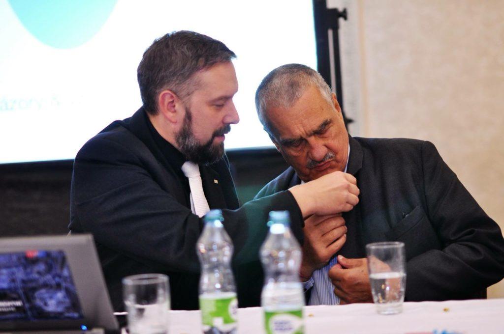 Jaroslav Poláček a Karel Schwarzenberg na programové konferenci TOP 09